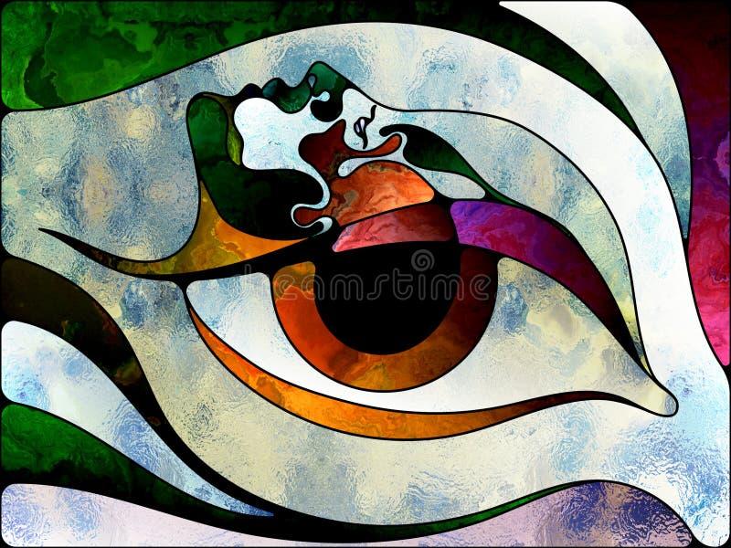 Accélération de verre coloré illustration libre de droits