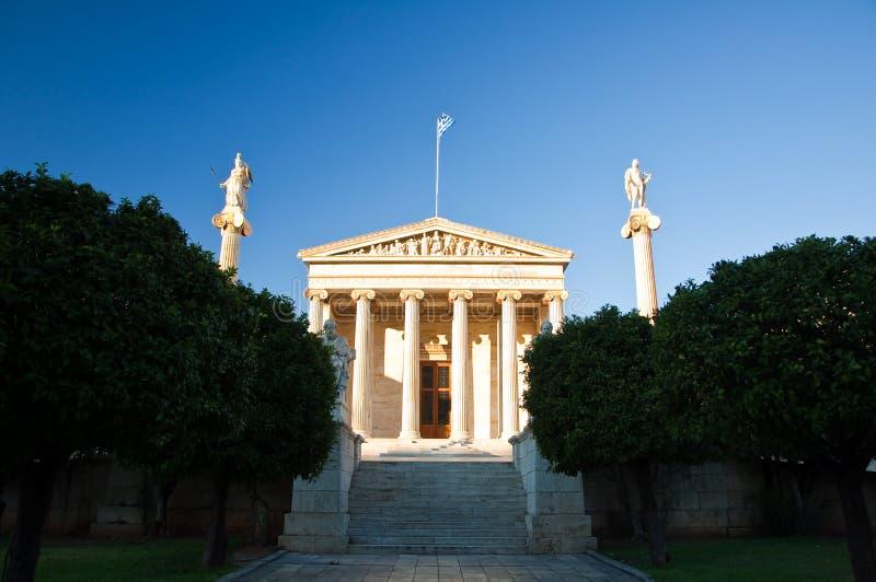 Accademia di Atene, Grecia. immagini stock