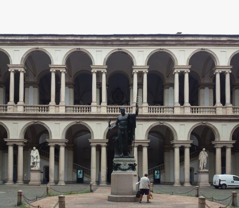 Accademia di Brera в милане стоковое фото rf