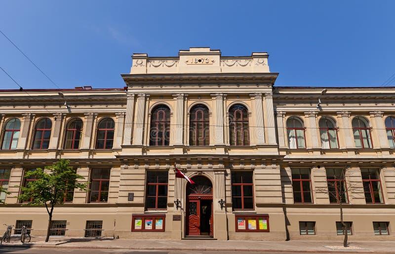 Accademia lettone di Jazeps Vitols di musica (1873) a Riga, Lettonia fotografia stock