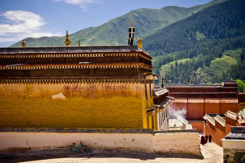 Accademia tibetana, Labrang Lamasery fotografia stock libera da diritti