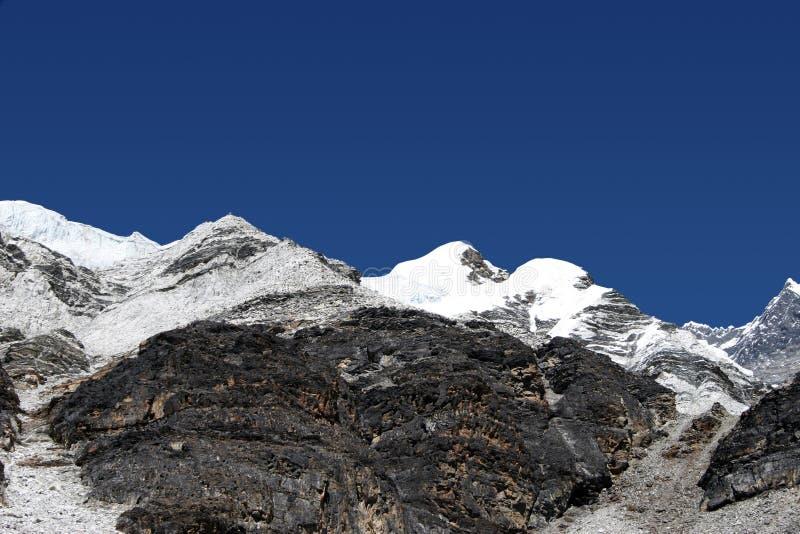 Accampamento di punta dell'isola alto - Nepal fotografie stock libere da diritti