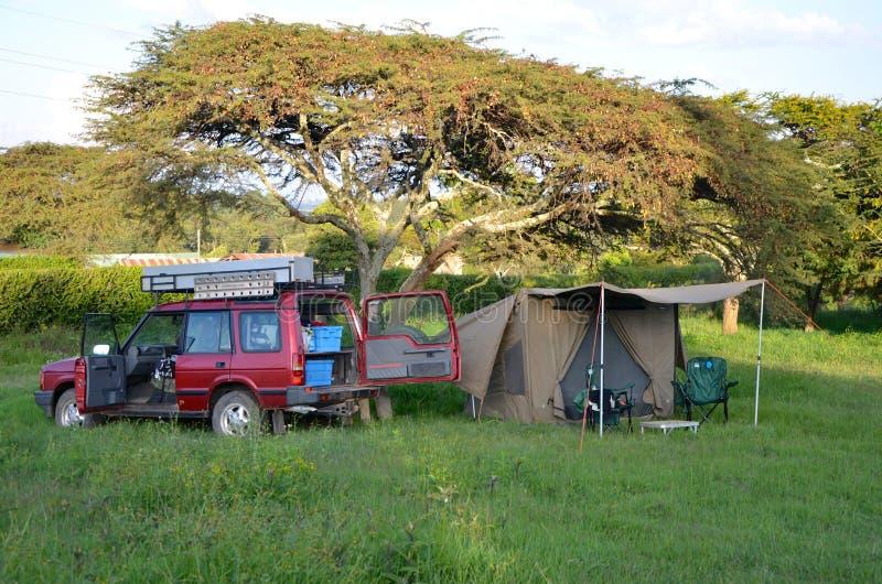 Accampamento di safari fotografia stock