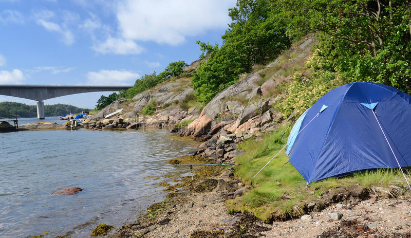 Accampamento in natura svedese immagine stock