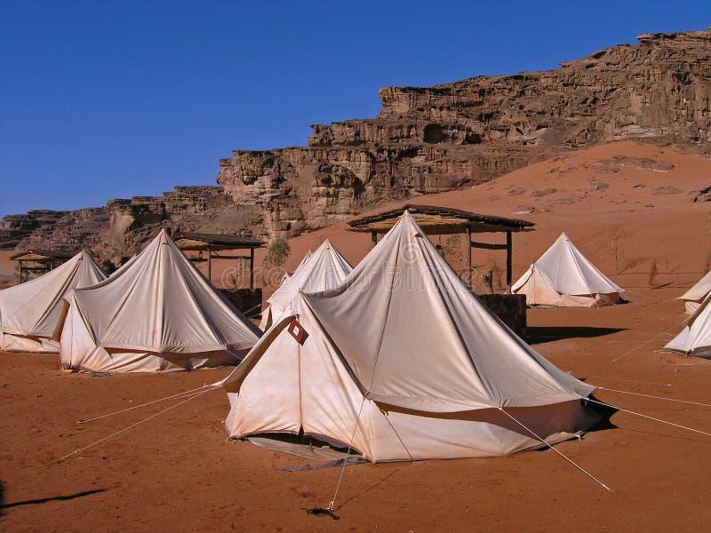 Accampamento, rum GIORDANO dei wadi immagine stock libera da diritti