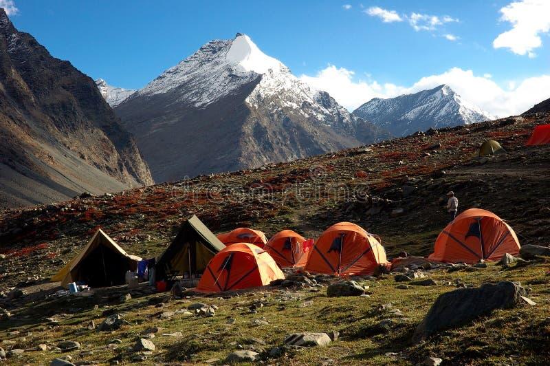 Accampamento Trekking fotografia stock