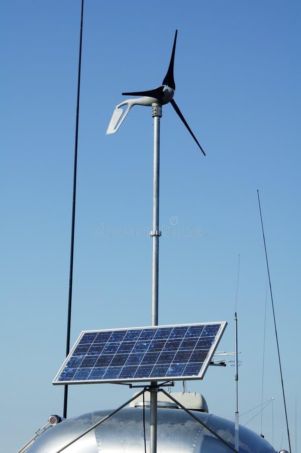 Accampandosi con 4 solari fotografia stock libera da diritti