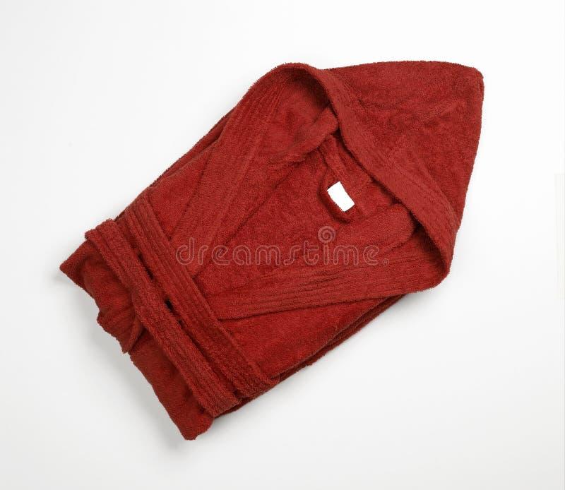 Accappatoio rosso fotografie stock