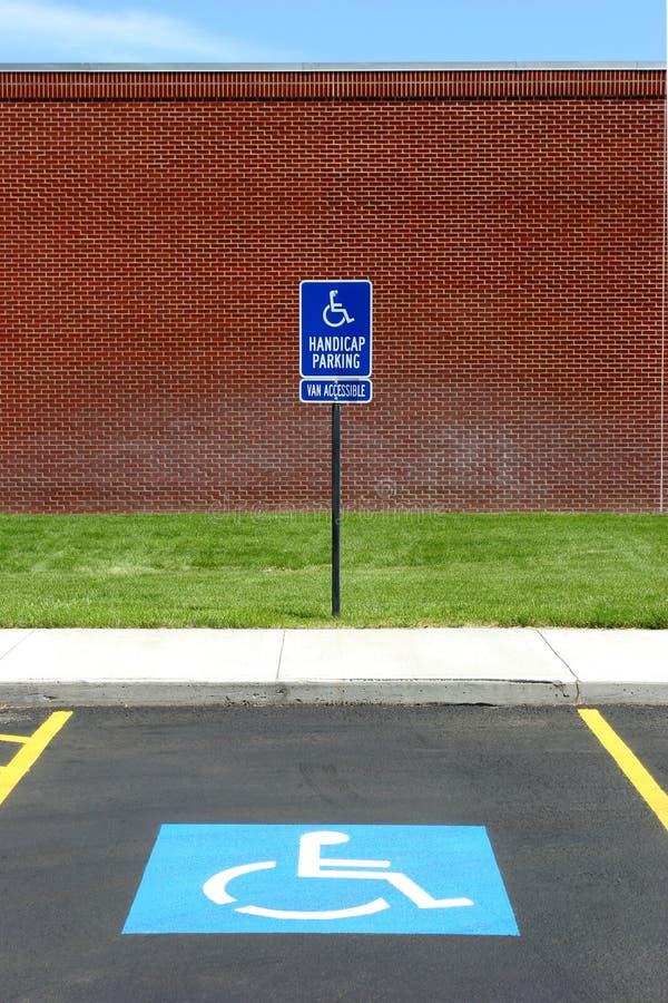 acccessible parkingu foru van obraz stock