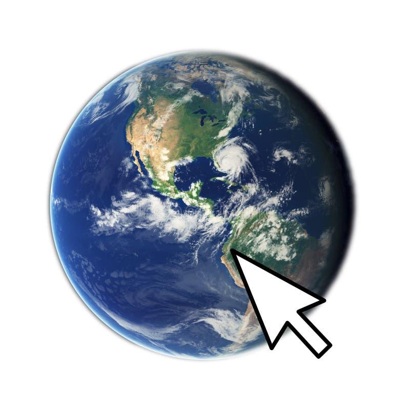Accedi al globo fotografia stock libera da diritti