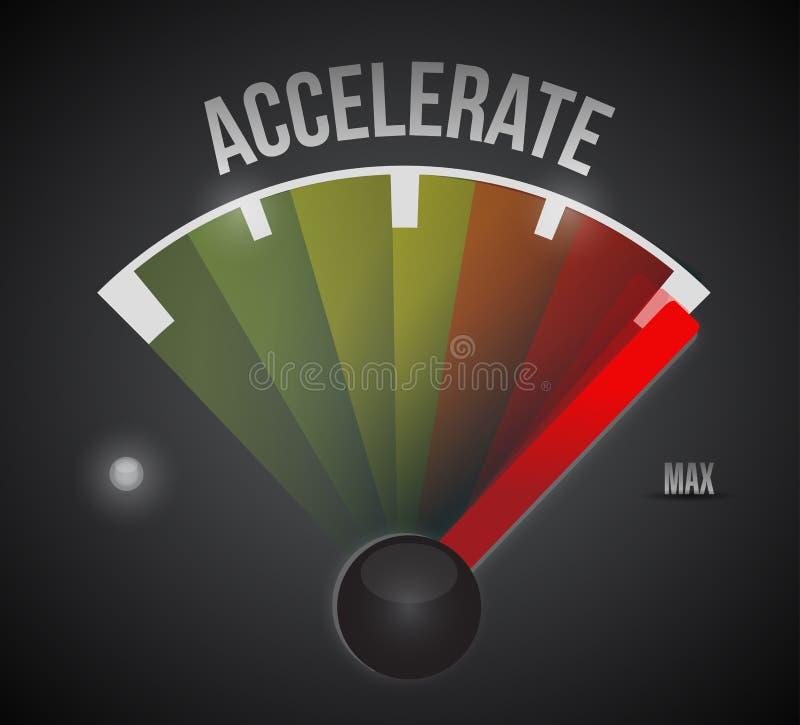 Accelerate speedometer illustration design vector illustration
