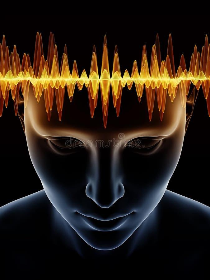 Acceleration av den mänskliga meningen vektor illustrationer