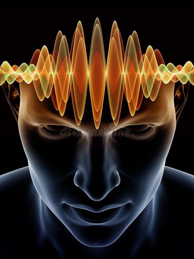 Acceleration av den mänskliga meningen royaltyfri illustrationer