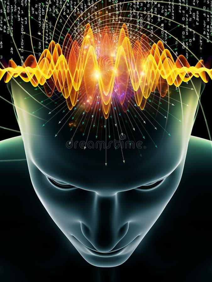 Acceleration av den mänskliga meningen stock illustrationer