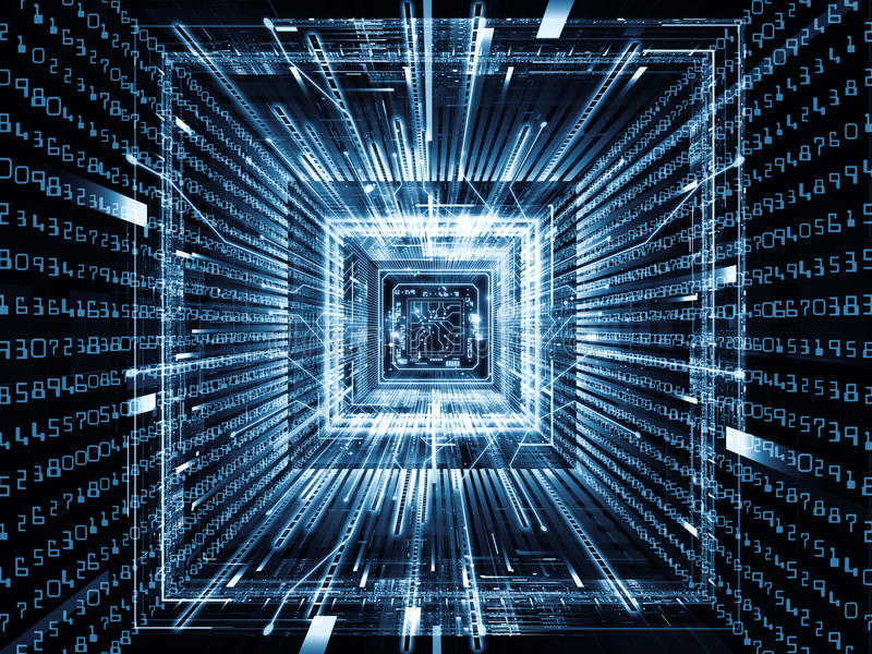 Download Acceleration of Computer stock illustration. Image of chip - 26121535