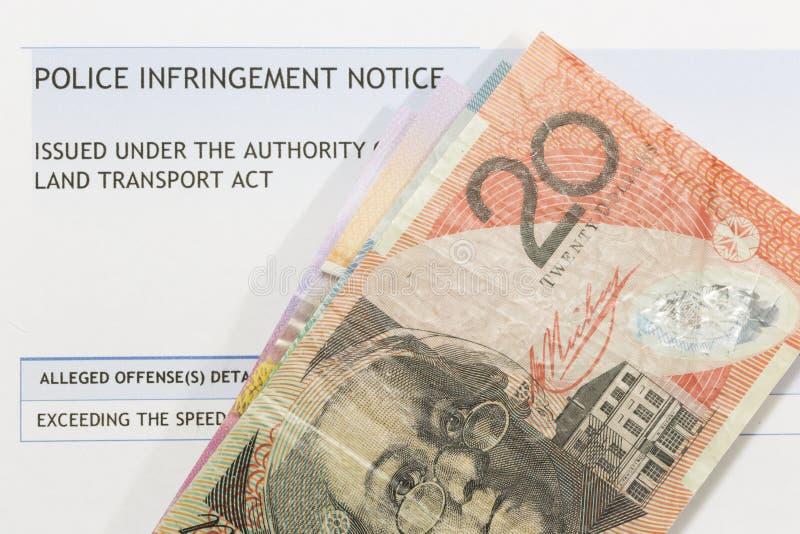 Accelerazione benissimo e soldi australiani fotografie stock libere da diritti
