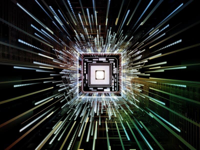 Accelerazione del CPU fotografia stock