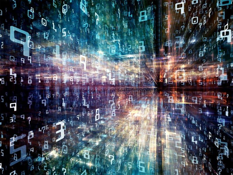 Accelerazione del mondo di Digital illustrazione di stock