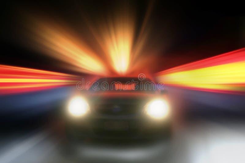 Accelerazione dell'automobile fotografia stock