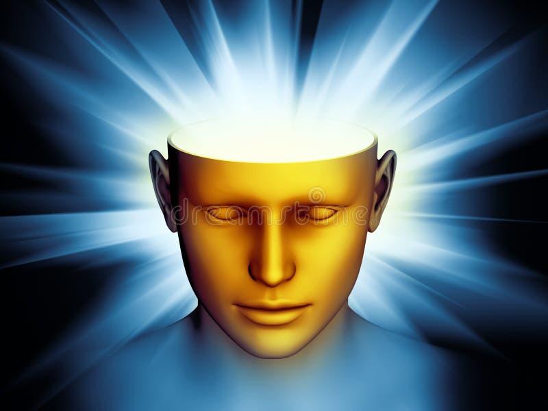 Meditazione Con Luce Dorata Illustrazione di Stock - Illustrazione di uomo,  coscienza: 54716474