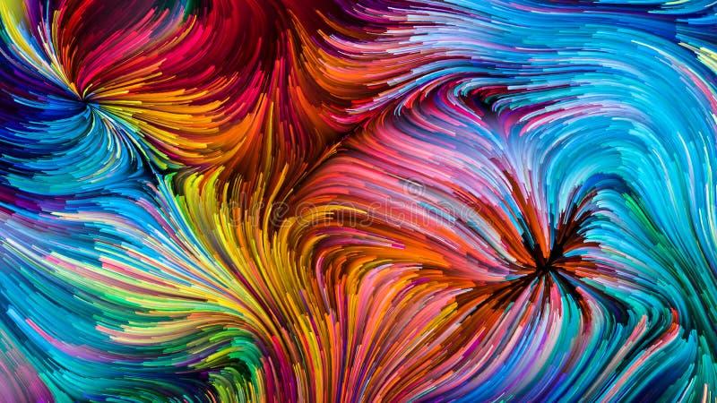 Accelerazione della pittura di Digital illustrazione di stock