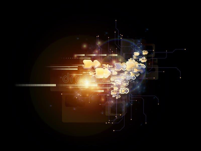 Accelerazione di tecnologia della nuvola royalty illustrazione gratis