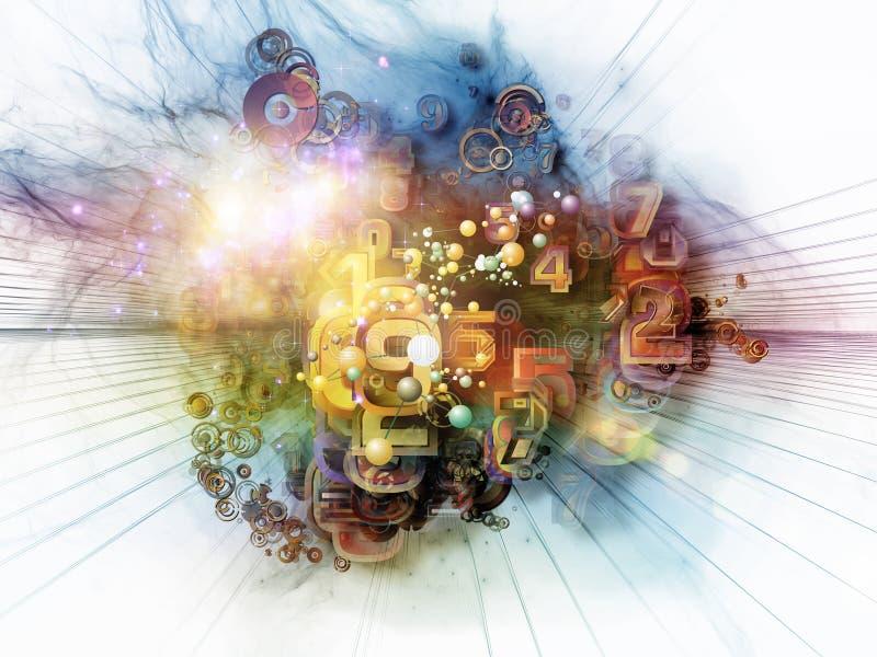 Accelerazione di tecnologia di Digitahi illustrazione di stock