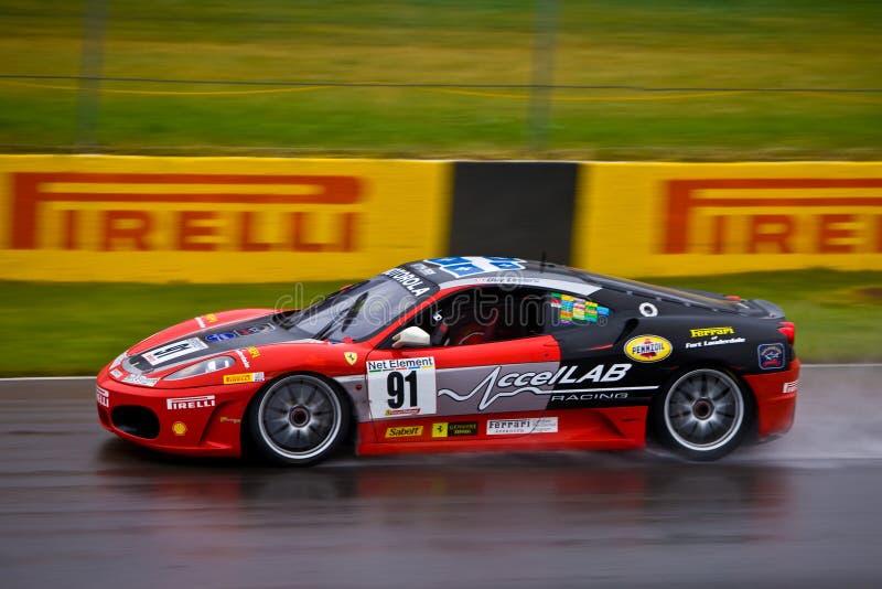 Accellab Ferrari emballant au prix grand de Montréal photo stock