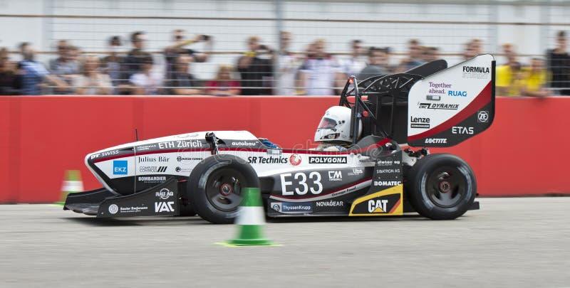 Accellerationproef bij Formulestudent Germany royalty-vrije stock foto