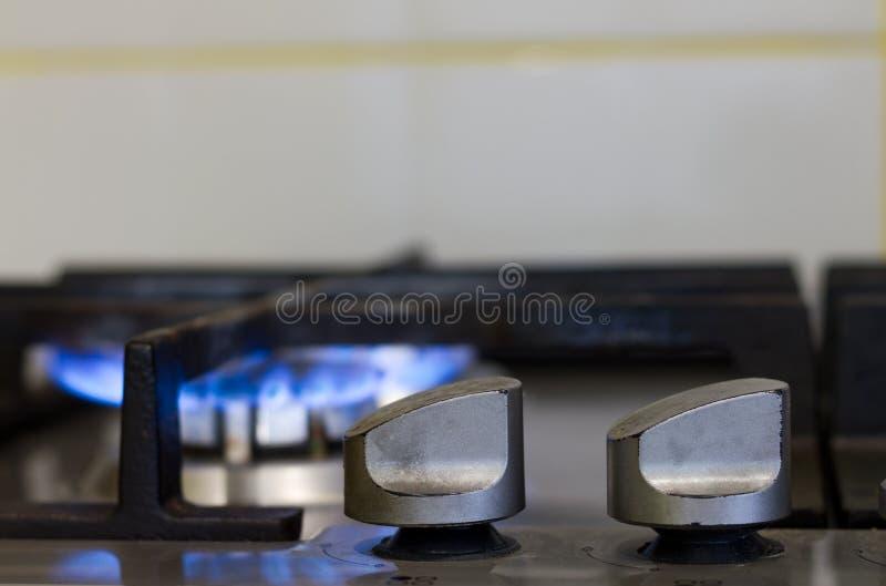 Accende la stufa di gas fotografia stock