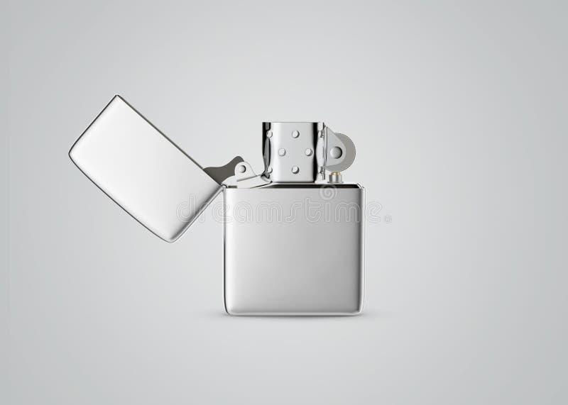 Accendino della benzina del metallo di stile di Zippo Primo piano di superficie per la vostra progettazione Accendino antivento i fotografia stock