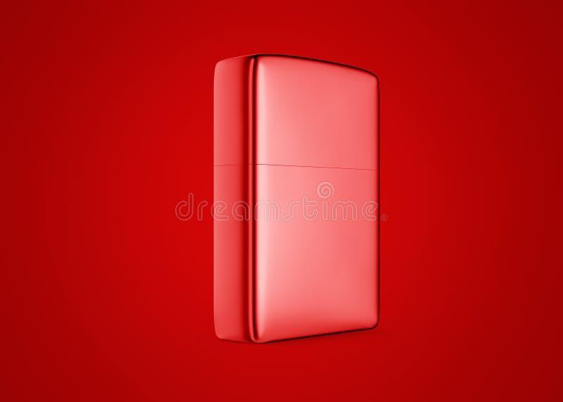 Accendino della benzina di stile del metallo Primo piano di superficie per la vostra progettazione Accendino antivento isolato su immagini stock libere da diritti