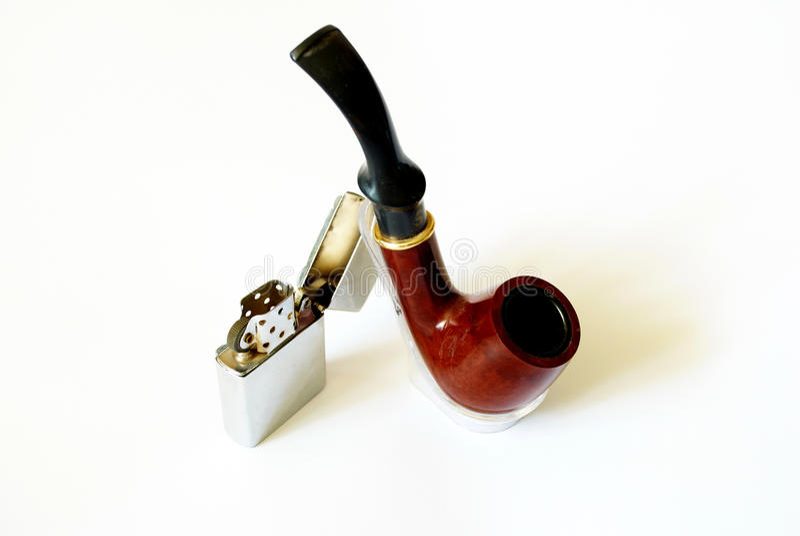 Accenditore del tubo e della benzina di tabacco immagini stock