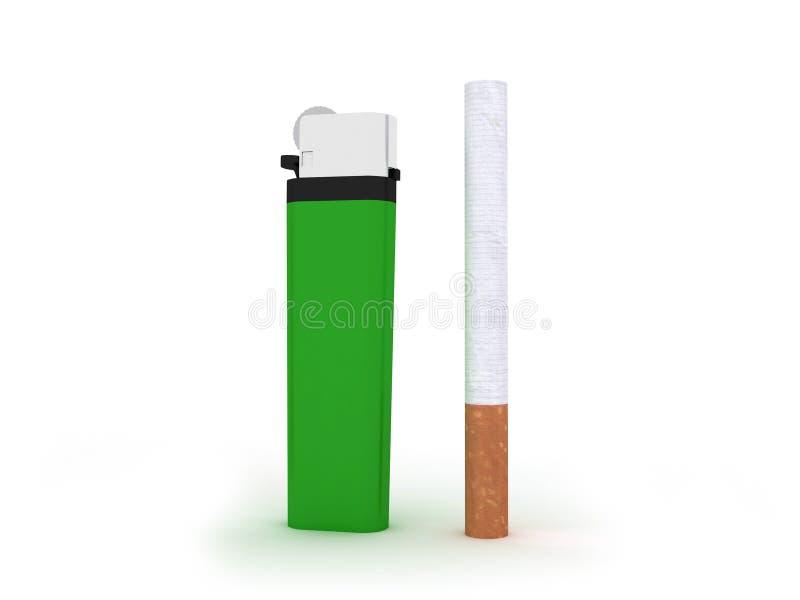 Download Accenditore e sigaretta illustrazione di stock. Illustrazione di fumatore - 7302870