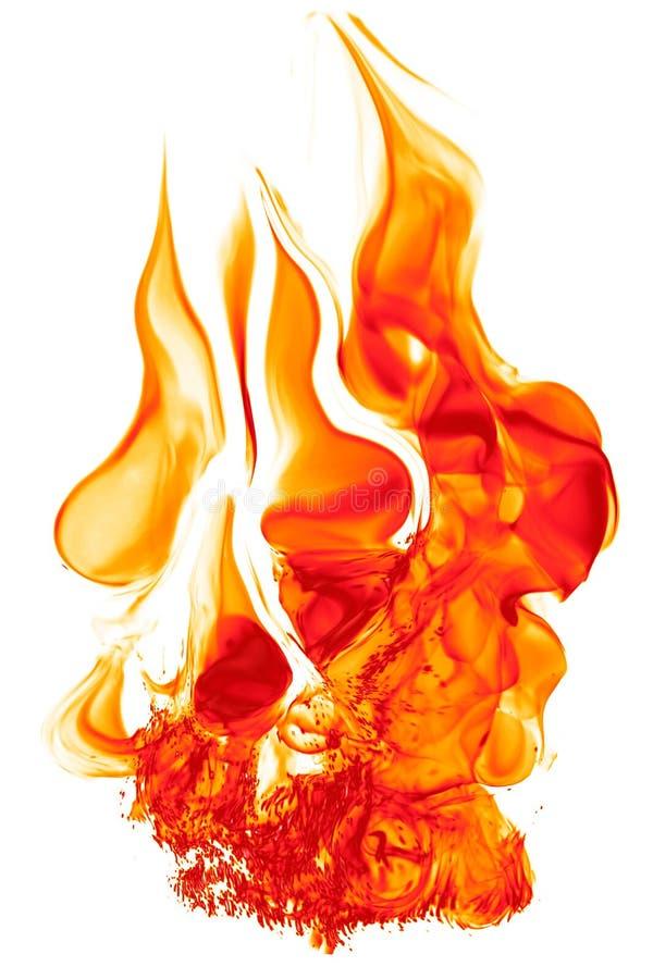 Accensione magica del fuoco - fiamma calda rosso-arancio bruciante - ardente immagini stock