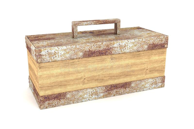 Accent Box. Wooden Accent Box 3D Rendering Illustration stock illustration