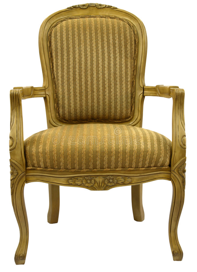 Accent Chair in Gold Finish royalty free stock images