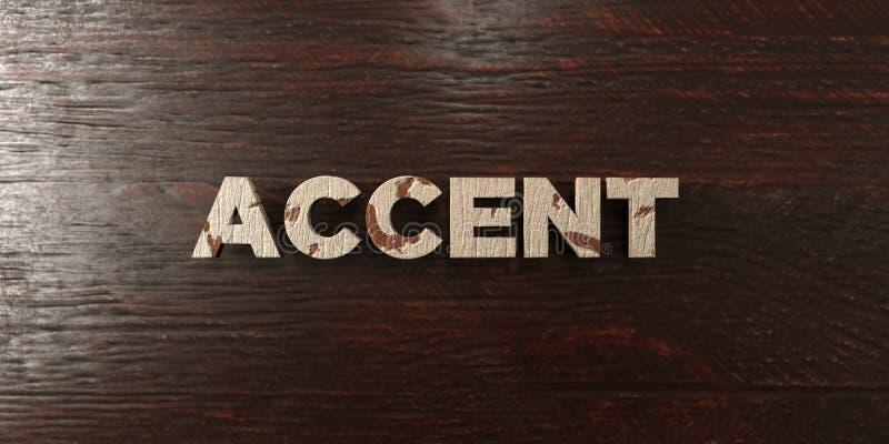 Accent - grungy houten krantekop op Esdoorn - 3D teruggegeven royalty vrij voorraadbeeld royalty-vrije illustratie