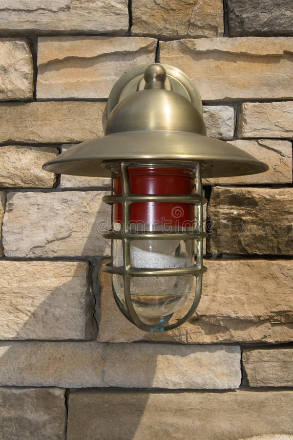 Accent Light. An accent light at the Orange Reservoir in West Orange New Jersey royalty free stock images