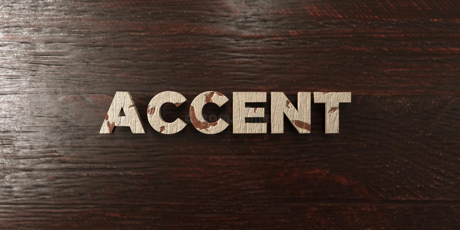Accent - titre en bois sale sur l'érable - image courante gratuite de redevance rendue par 3D illustration libre de droits