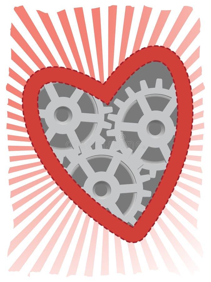 accented красный цвет луча сердца clockwork лучей бесплатная иллюстрация