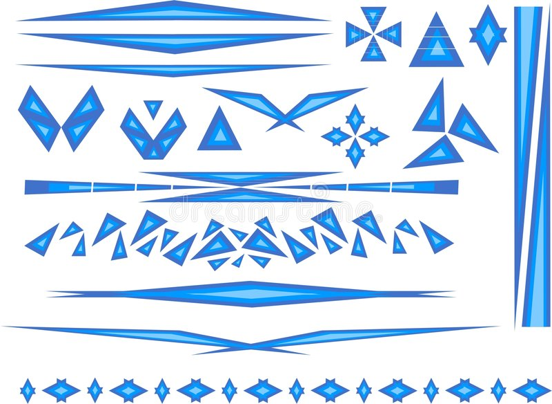 accents синь стоковые изображения rf