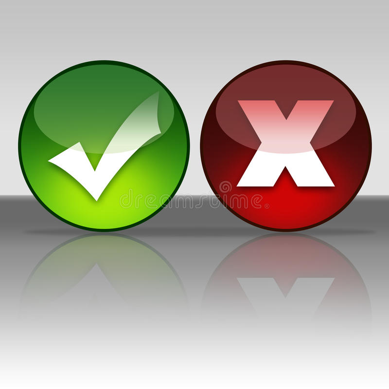 Download Accept/Cancel Icons Stock Photo - Image: 25629570