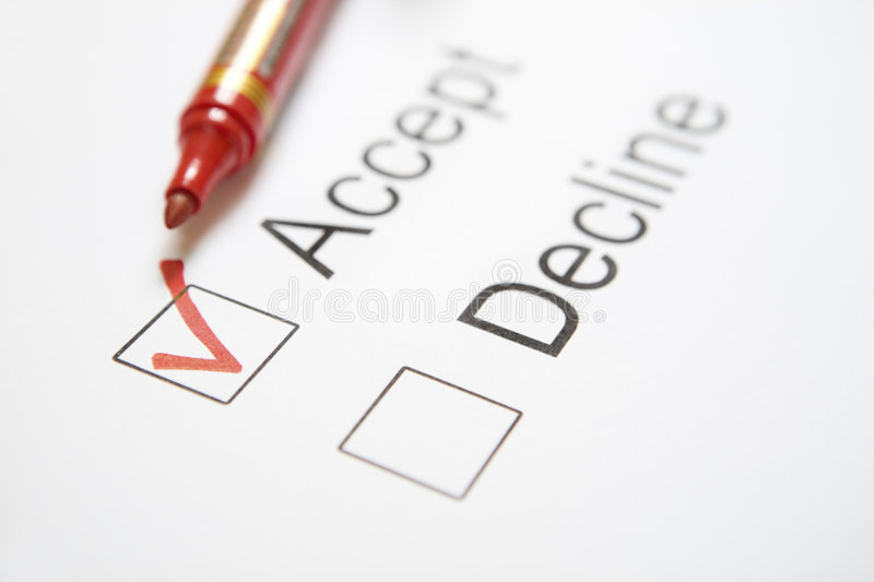 Download 'Accept' chosen stock photo. Image of word, checkbox, choice - 6997612