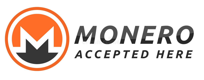 We accept Monero. royalty free illustration