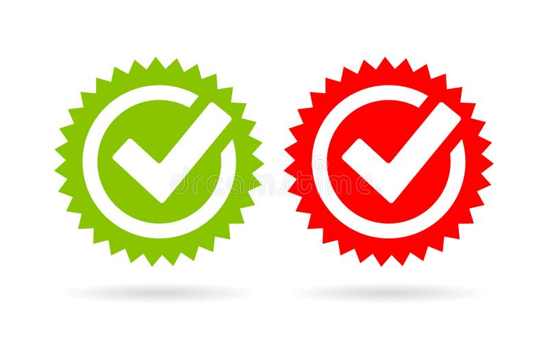Acceptance tick vector icon royalty free illustration