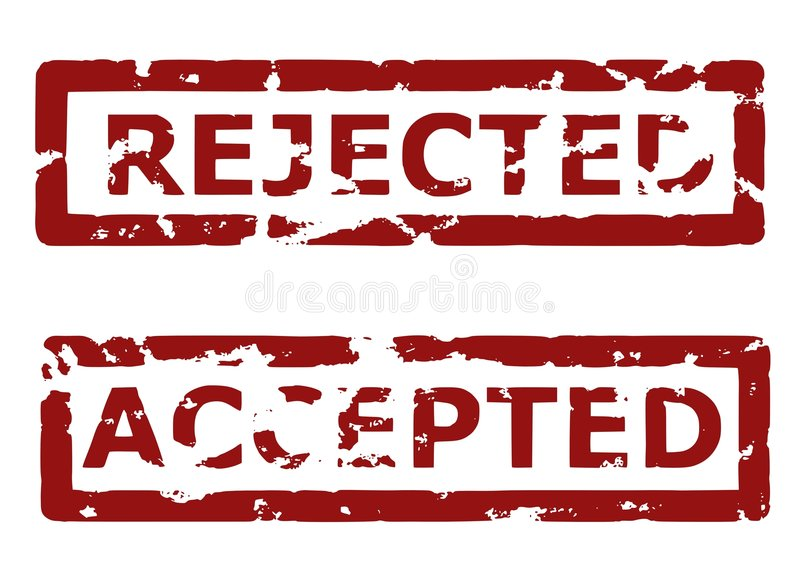 accepted rejected διανυσματική απεικόνιση