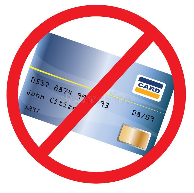 accepterat creditcard inte stock illustrationer