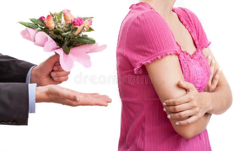 Acceptez mes fleurs photo stock