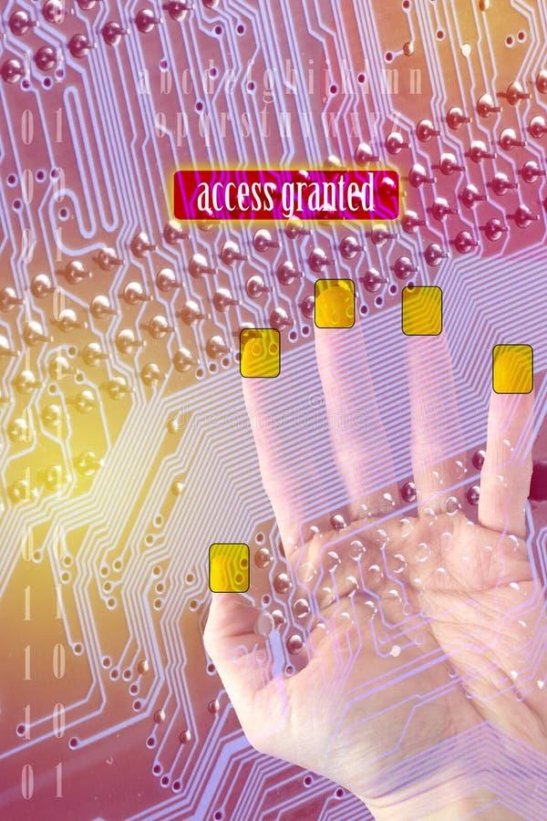 Acces concedió ilustración del vector